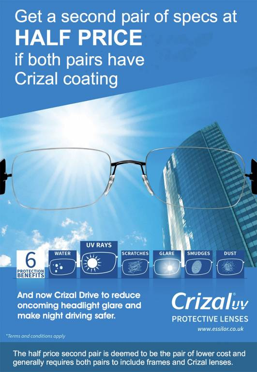20349b205ea9 Half Price Frames with Crizal UV Lenses - Complete Eyecare